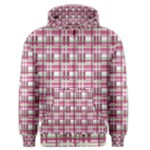 Pink plaid pattern Men s Zipper Hoodie