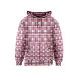 Pink plaid pattern Kids  Zipper Hoodie