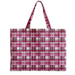 Pink plaid pattern Zipper Mini Tote Bag