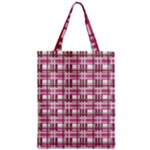 Pink plaid pattern Zipper Classic Tote Bag