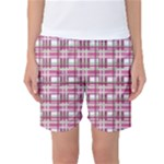 Pink plaid pattern Women s Basketball Shorts
