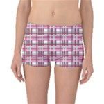 Pink plaid pattern Boyleg Bikini Bottoms
