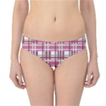 Pink plaid pattern Hipster Bikini Bottoms