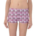 Pink plaid pattern Reversible Bikini Bottoms