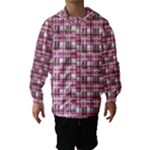 Pink plaid pattern Hooded Wind Breaker (Kids)