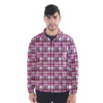 Pink plaid pattern Wind Breaker (Men)