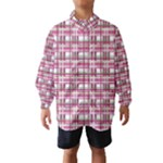 Pink plaid pattern Wind Breaker (Kids)