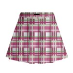 Pink plaid pattern Mini Flare Skirt