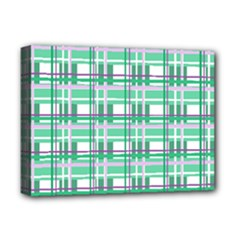 Green plaid pattern Deluxe Canvas 16  x 12   from ArtsNow.com