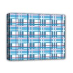 Blue plaid pattern Deluxe Canvas 14  x 11