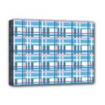 Blue plaid pattern Deluxe Canvas 16  x 12