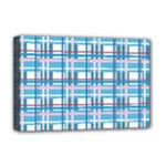 Blue plaid pattern Deluxe Canvas 18  x 12