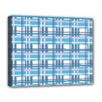 Blue plaid pattern Deluxe Canvas 20  x 16