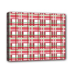 Red plaid pattern Canvas 10  x 8  from ArtsNow.com