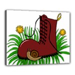 Boot in the grass Canvas 20  x 16