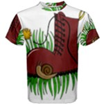 Boot in the grass Men s Cotton Tee