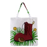 Boot in the grass Grocery Tote Bag