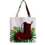 Boot in the grass Zipper Grocery Tote Bag