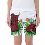 Boot in the grass Women s Basketball Shorts