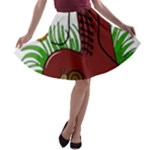 Boot in the grass A-line Skater Skirt