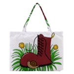 Boot in the grass Medium Tote Bag