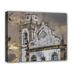 Exterior Facade Antique Colonial Church Olinda Brazil Canvas 14  x 11
