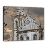 Exterior Facade Antique Colonial Church Olinda Brazil Canvas 20  x 16
