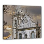 Exterior Facade Antique Colonial Church Olinda Brazil Canvas 24  x 20
