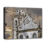 Exterior Facade Antique Colonial Church Olinda Brazil Deluxe Canvas 20  x 16
