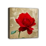 Red Rose Art Mini Canvas 4  x 4  (Stretched)