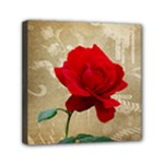Red Rose Art Mini Canvas 6  x 6  (Stretched)