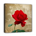 Red Rose Art Mini Canvas 8  x 8  (Stretched)