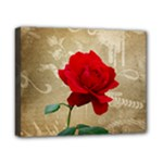Red Rose Art Canvas 10  x 8  (Stretched)