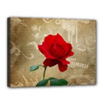 Red Rose Art Canvas 16  x 12  (Stretched)