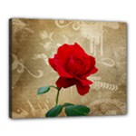 Red Rose Art Canvas 20  x 16  (Stretched)