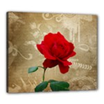 Red Rose Art Canvas 24  x 20  (Stretched)