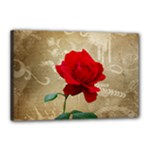 Red Rose Art Canvas 18  x 12  (Stretched)