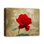 Red Rose Art Deluxe Canvas 14  x 11  (Stretched)