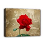 Red Rose Art Deluxe Canvas 16  x 12  (Stretched)