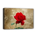 Red Rose Art Deluxe Canvas 18  x 12  (Stretched)