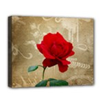 Red Rose Art Deluxe Canvas 20  x 16  (Stretched)