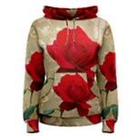 Red Rose Art Women s Pullover Hoodie