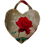 Red Rose Art Giant Heart Shaped Tote