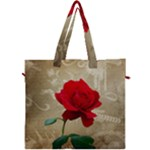 Red Rose Art Canvas Travel Bag