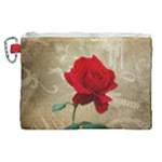 Red Rose Art Canvas Cosmetic Bag (XL)