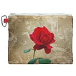 Red Rose Art Canvas Cosmetic Bag (XXL)