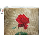 Red Rose Art Canvas Cosmetic Bag (XXXL)
