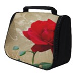 Red Rose Art Full Print Travel Pouch (Small)