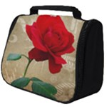Red Rose Art Full Print Travel Pouch (Big)