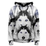 Wolf Moon Mountains Women s Pullover Hoodie